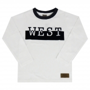 Camiseta Manga Longa Brandili - Mundi Estampa West - 6 ao 10