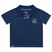 Camiseta Polo Kiko e Kika - com aplique - P e G
