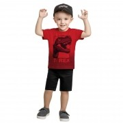 Camiseta Meia Manga Romitex Wyrky Dinossauro - 1 ao 3