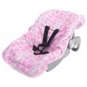 Capa para Bebê Conforto Incomfral Bambi Malhas - Balões Rosa