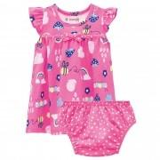 Conjunto Verão Brandili Baby Vestido e Calcinha - RN ao G