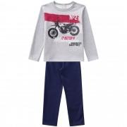 Conjunto Inverno Brandili Club Estampado N2 Custom Motocicletas com calça em moletom