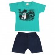 Conjunto Verão Brandili Camiseta California Summer com Bermuda Tactel - 1 ao 3