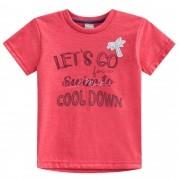 Conjunto Verão Brandili Mundi Camiseta Coqueiro Let's Go com Bermuda Sarja - 1 ao 3