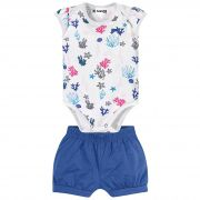 Conjunto Brandili Baby Body Fundo do Mar - P ao G