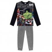 Conjunto Inverno Brandili - Blusão Estampa Relevo Marvel Avengers com Calça Jogger com Punho - 4 ao 10