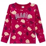 Conjunto Inverno Brandili - Blusão Estampado Glitter Magic Cachorrinhas com Legging - 4 ao 10