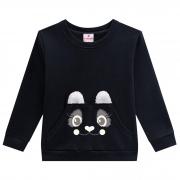 Conjunto Inverno Brandili - Blusão Estampado Urso com Aplicação pelo Orelha com Legging Ursos - 4 ao 10