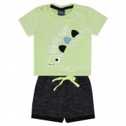 Conjunto Verão Kiko e Kika Camiseta e Bermuda Dino's Fun! - P ao M