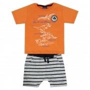 Conjunto Verão Kiko e Kika Camiseta e Bermuda Dinossauros - 1 ao 3