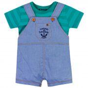 Conjunto Brandili Baby Jardineira Captain Sailor Baby Cute - 1 ao 3