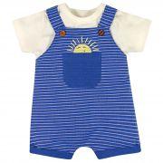 Conjunto Brandili Baby Jardineira Sol - P ao G