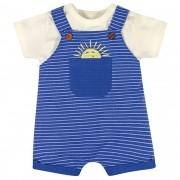 Conjunto Verão Brandili Baby Jardineira Sol com Camiseta - P ao G