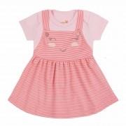 Conjunto de Verão Kiko Baby Salopete com Body - Joaninha - P e G