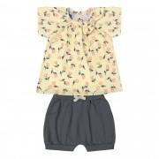 Conjunto de Verão Kiko e Kika Blusinha e Shorts - Florido - P ao G