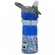 Copo Cajovil Nûby Tritan com botão e bico de silicone - +18M - Azul Robô