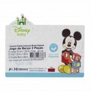 Jogo de lençol para berço Americano com 3 peças - Minasrey - Disney Baby - Azul