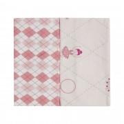 Kit com 2 fronhas - Minasrey - Circus Loupiot - Rosa