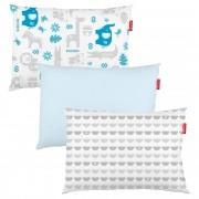 Kit Fronha Estampada Bichinhos com 3 unidades -Incomfral - Fisher Price - Azul