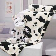 Kit Manta Bouton  – Vaca – Preto e Branco