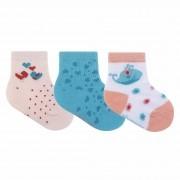 Kit Meia Infantil Pimpolho Colorida e Estampada com 3 pares - 00 ao 15
