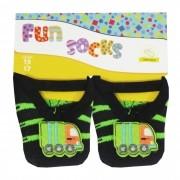kit Meia Winston c/3 Alça Aplicação Bordada Fun Socks  - 15/17