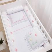 Kit para Berço com Bordado 8 peças Incomfral Baby Joy - Jardim
