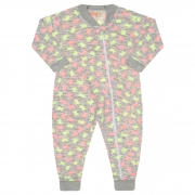 Macacão Pijama Inverno Vrasalon Soft Ursinhos Neon - 04 ao 08