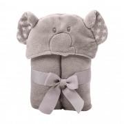 Manta Incomfral Babyjoy com Capuz Bichinhos - Elefante