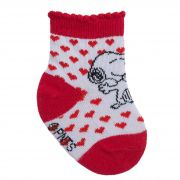 Meia Pimpolho Snoopy Corações – Vermelha – 00 a 15