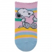 Meia Pimpolho Snoopy Listrada – Rosa – 16 a 20