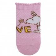 Meia Pimpolho Snoopy Love – Rosa – 00 a 15