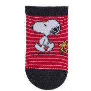 Meia Pimpolho Snoopy - Preta e Vermelha - 00 a 15