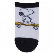 Meia Pimpolho Snoopy Skatista – Branco – 16 a 20