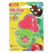 Mordedor Cajovil Nûby - Fruta Morango +3M - Vermelho
