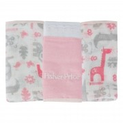 Pano de Boca Incomfral Fisher-Price - Estampado - Rosa Claro