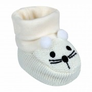 Sapatinho Everly Tricot Bordado - RN e BB