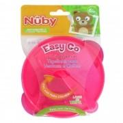 Tigelinha com Ventosa e Colher Cajovil Nûby - Easy Go +6M - Rosa