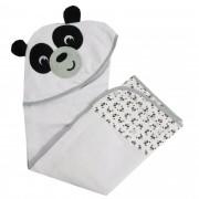 Toalha Bordada Incomfral Fisher-Price - Panda