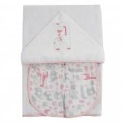 Toalha de Banho Incomfral Fisher-Price - Girafa - Rosa Claro