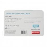 Toalha de Fralda incomfral Fisher Price - Com Capuz - Rosa Claro
