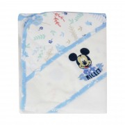 Toalha Fralda com capuz Bordada - Minasrey - Disney Baby - Azul