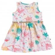 Vestido Verão Alenice Estampado com Cinto - 01 ao 03