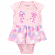 Vestido Body Brandili Baby Verão de Malha com Estampa de Elefantinha - P ao G