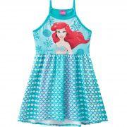 Vestido Brandili Personagens Ariel - 4 ao 10