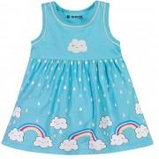 Vestido Verão Brandili Baby Estampa Arco Íris - P ao G