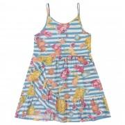 Vestido Verão Romitex Kely Kety Fundo do Mar - 4 ao 10