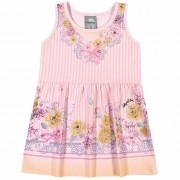 Vestido Verão Romitex Kely Kety Listras e Flores - 1 ao 3
