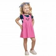 Vestido Verão Romitex Kely Kety Ursa Corações - 1 ao 3