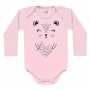 Body Manga Longa Kiko Baby de Suedine - Estampado Oncinha - RN ao G